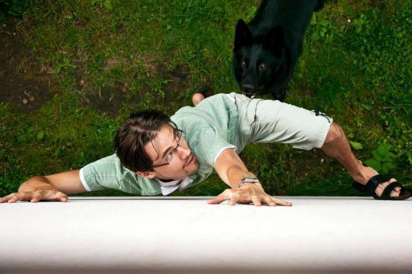 Убегать от дворовой собаки