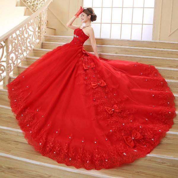 к чему снится красное свадебное платье