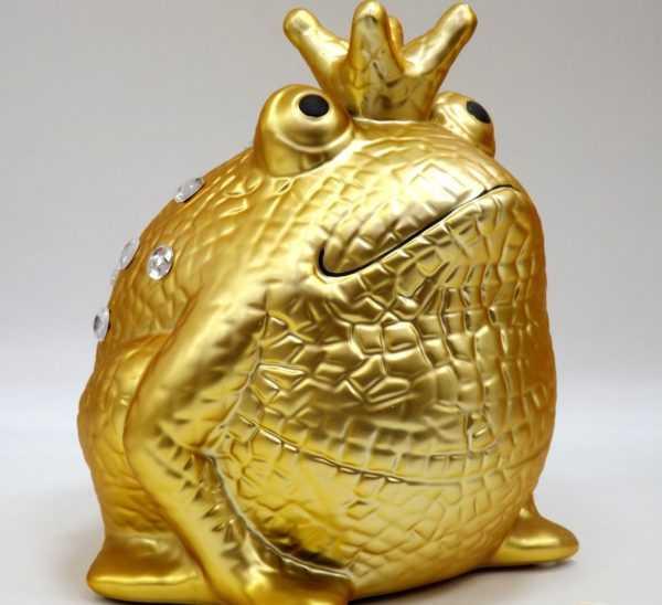 Золотая лягушка копилка