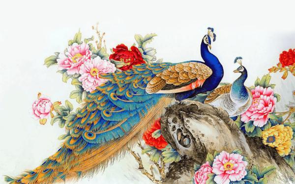 Картина с павлином